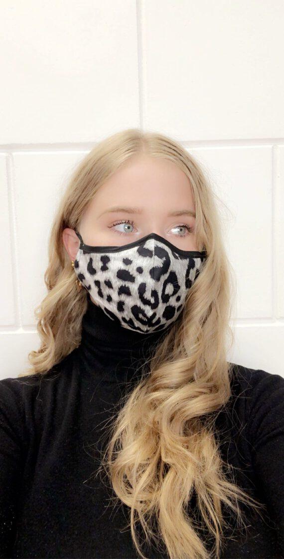 mondmasker met dierenprint