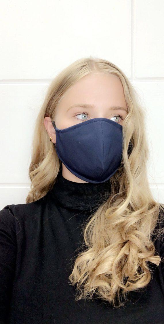 Blauw mondkapje uni