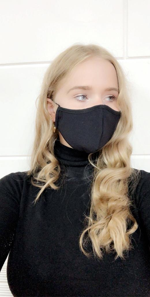zwart mondkapje die je kunt wassen