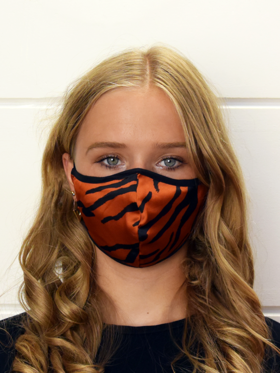 Red-Orange Zebra print