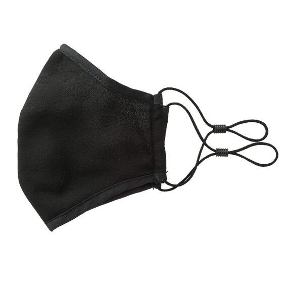 Mondkapje zwart zijde chiffon